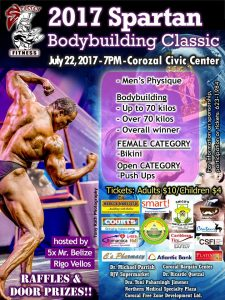 Mr. Belize's Spartan Bodybuilding Classic takes place today in Corozal Town