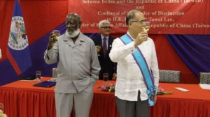 Foreign Minister of Taiwan visits Belize