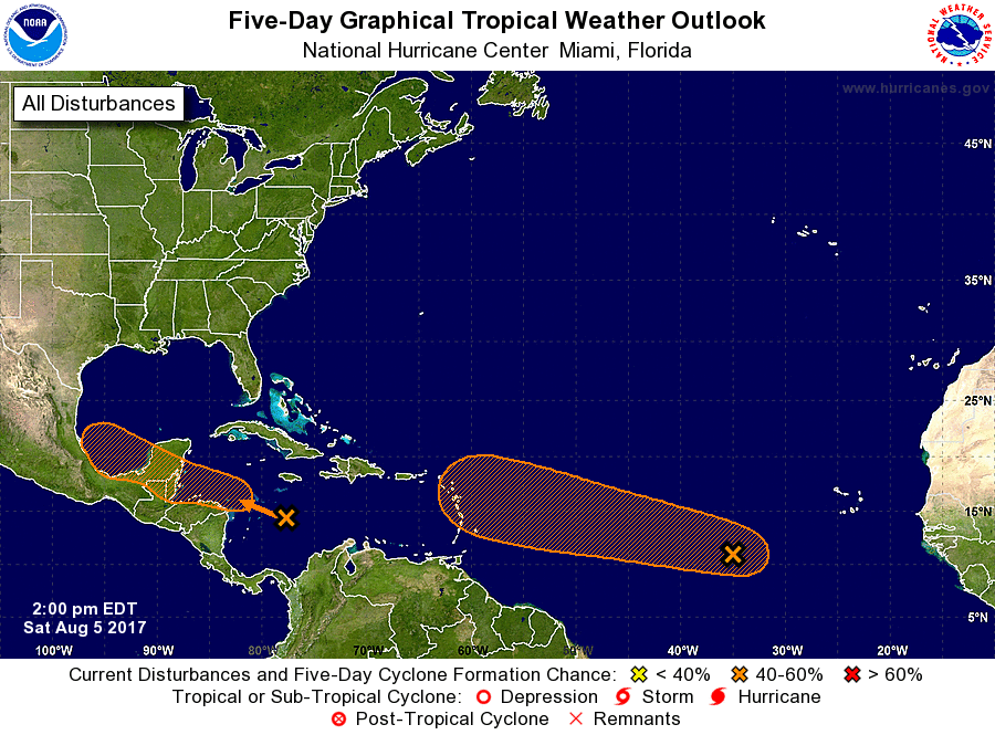 Forecasters continuing to watch 2 disturbances in the Atlantic