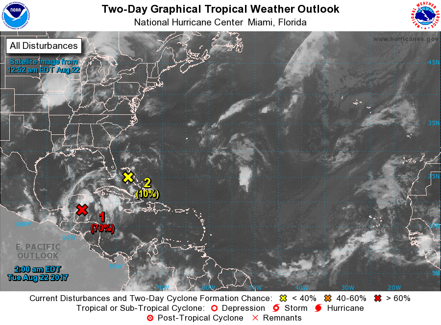 By BBN Staff As Of This Morning The National Hurricane Center NHC Is Reporting That A Large Area Disturbed Weather Over Northwestern Caribbean
