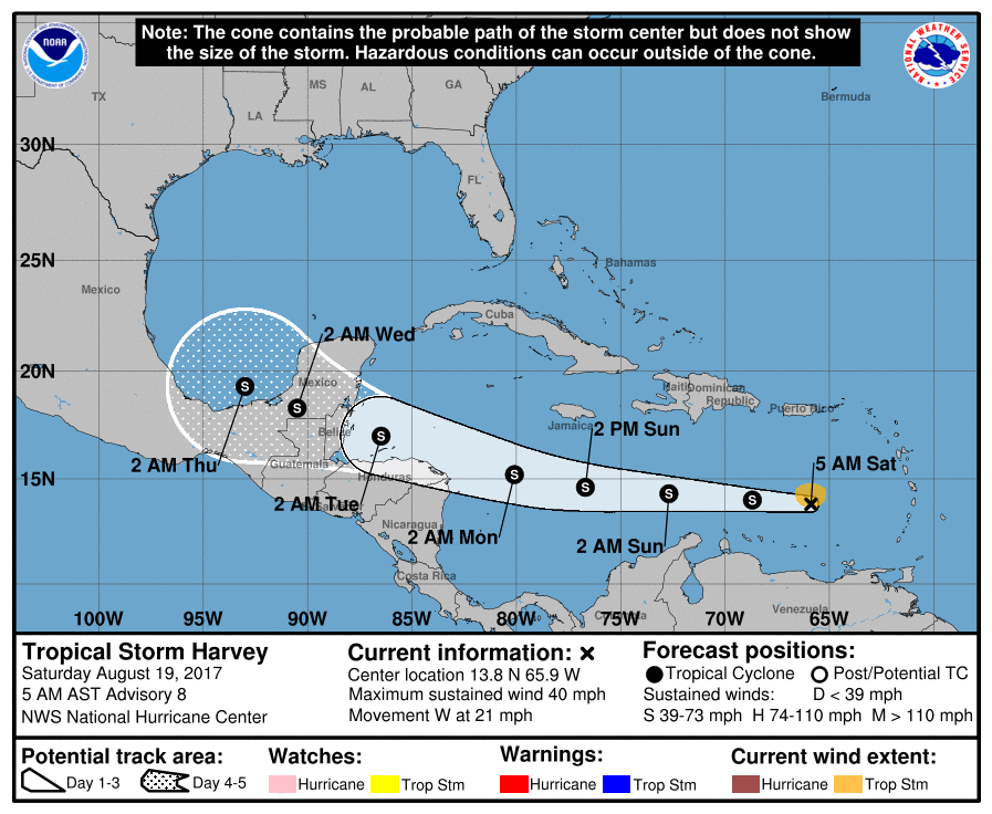 Harvey Continues To Move West Belize News And Opinion On