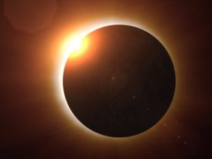 Total solar eclipse happening today