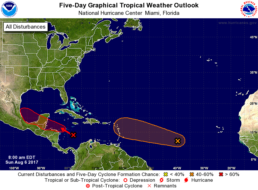 Potential Tropical Cyclone Seven forms in Caribbean