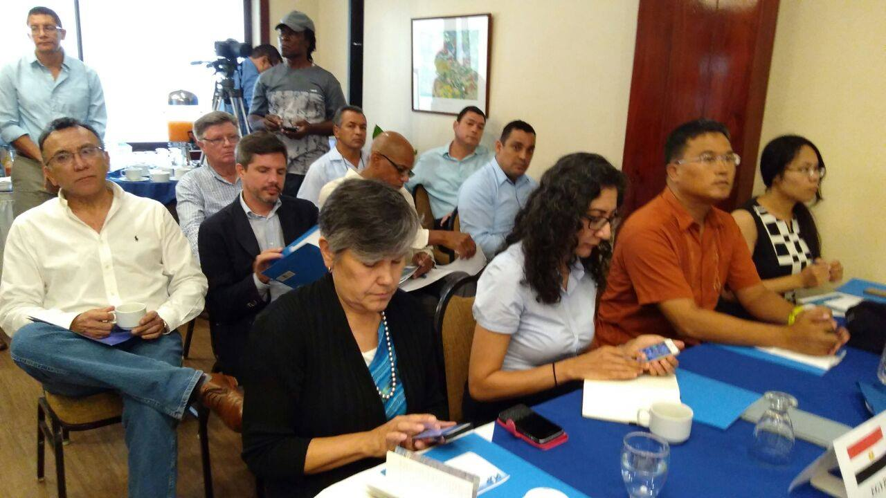 PUP Leader briefs diplomatic corps on state of Belize