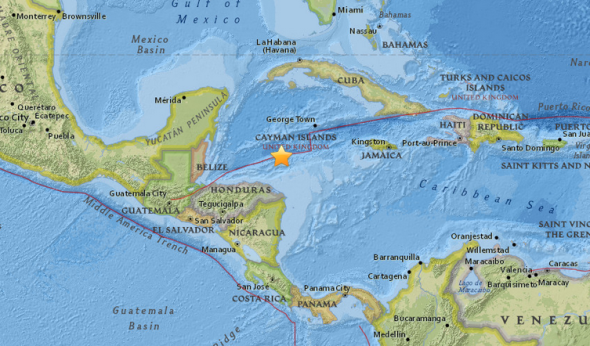 7.8 magnitude Earthquake shakes Honduras; felt in Belize