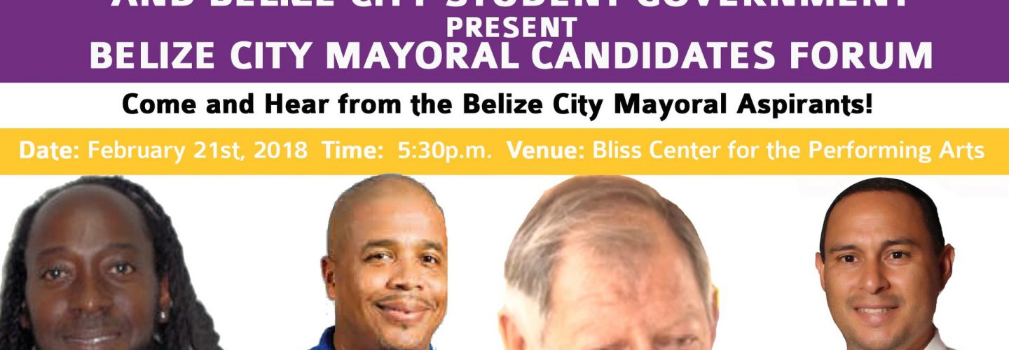 Belize city Mayoral candidates to participate in debate