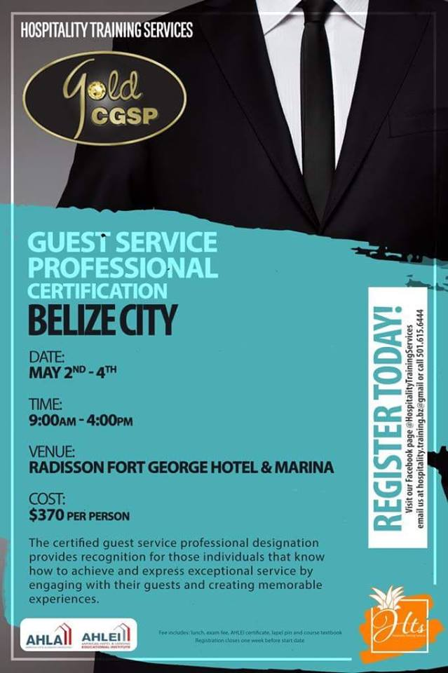 Guest Service Professional Certification Training To Be Held In Belize City
