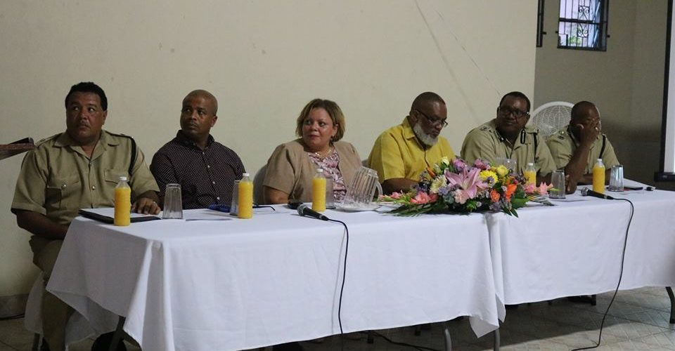 Ministry of National Security holds crime prevention meeting in Albert Constituency