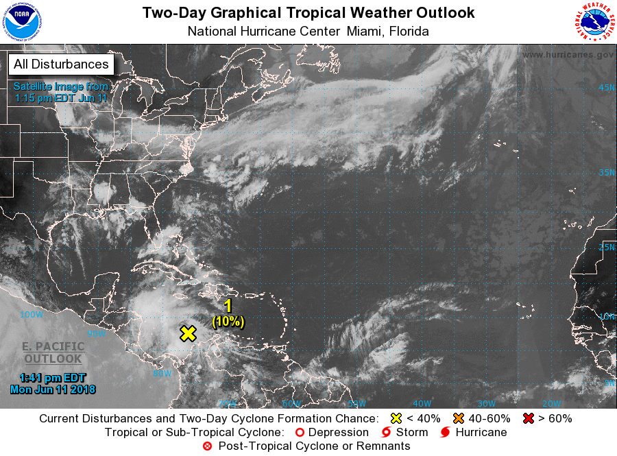 National Hurricane Center: Monitoring Gulf of Mexico for low chance development