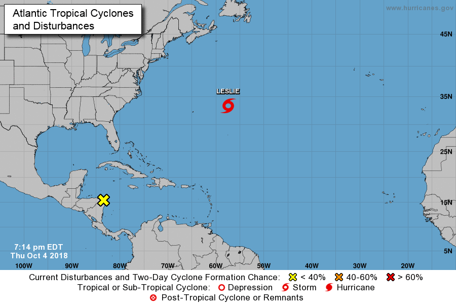 Tropical Storm Michael Forms, Forecasted to Become Hurricane By Wednesday