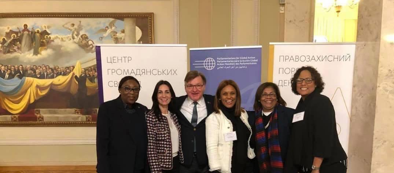 Senator Valerie Woods attends Parliamentarians for Global action meeting in Ukraine