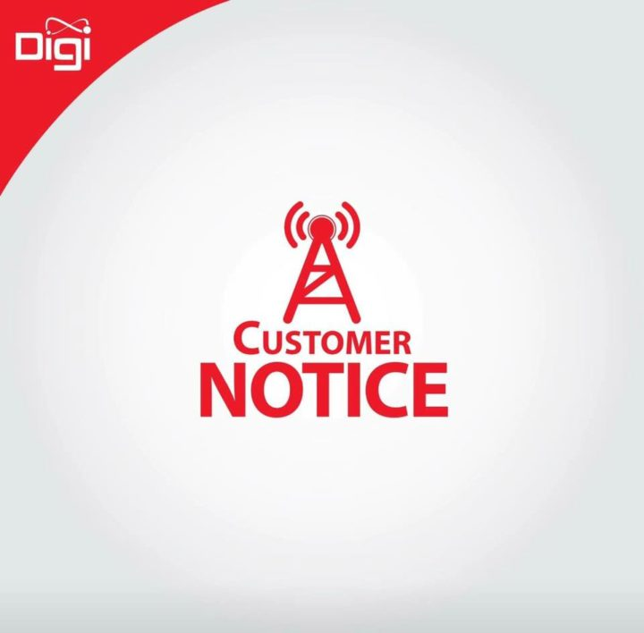 Digi mobile data service is temporarily down