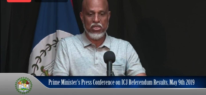 Prime Minister Dean Barrow outlines way forward after referendum vote