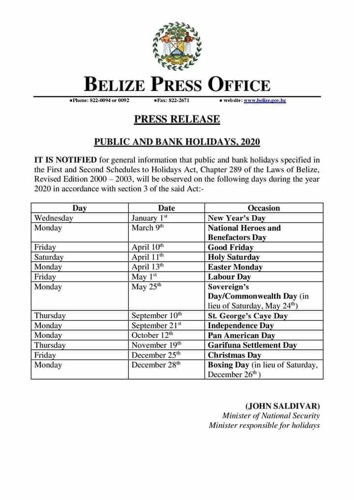 Christmas 2019 Bank Holidays.2020 S Public And Bank Holidays
