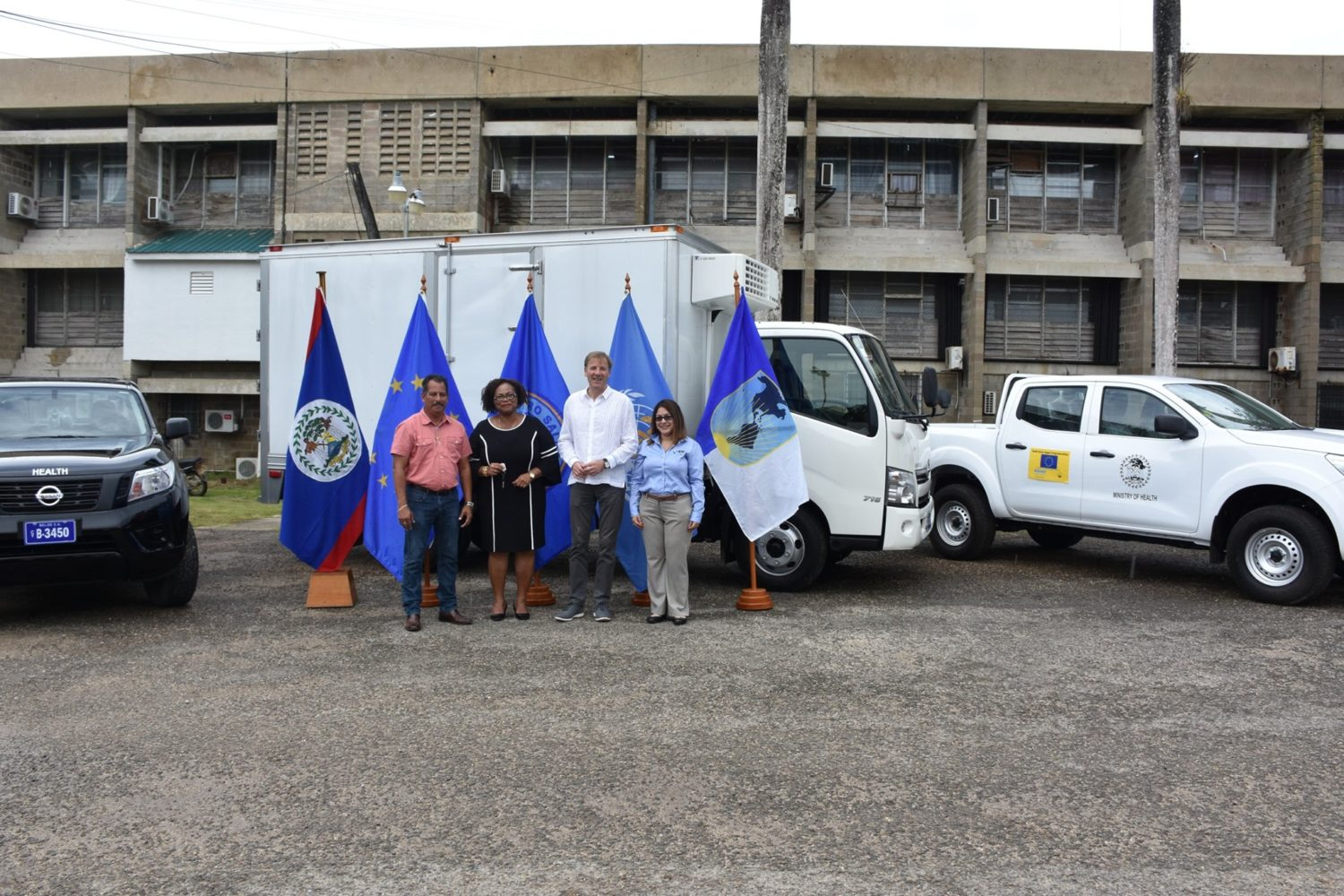 Ministry of Health receives three new vehicles