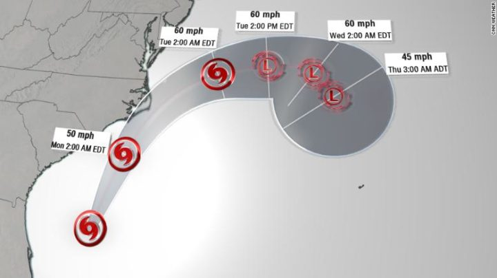 Tropical Storm Arthur develops, becomes the first Atlantic-named storm in 2020