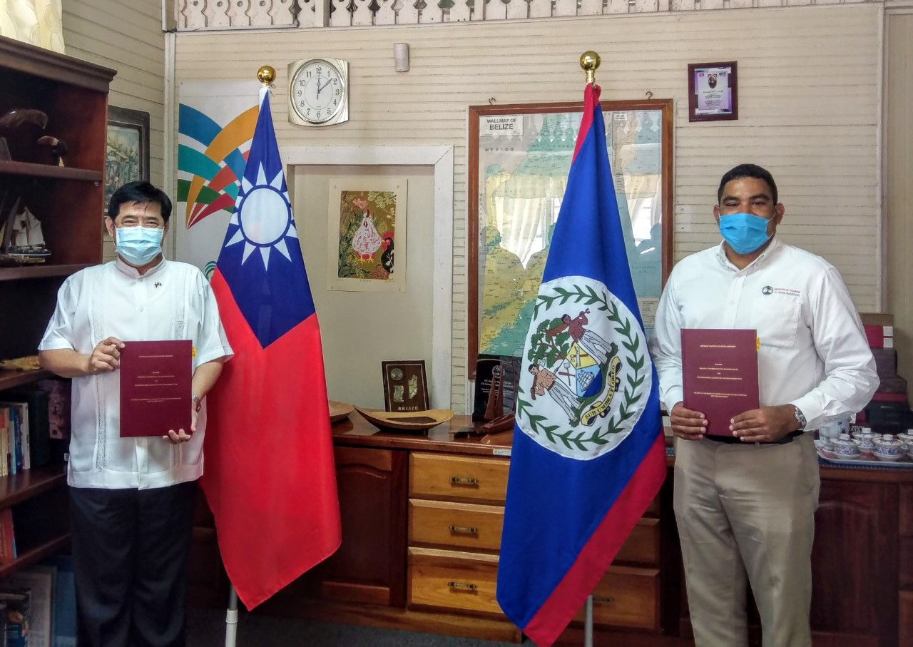 Taiwan hands over mobile app for walking tour of downtown Belize City to Tourism Ministry