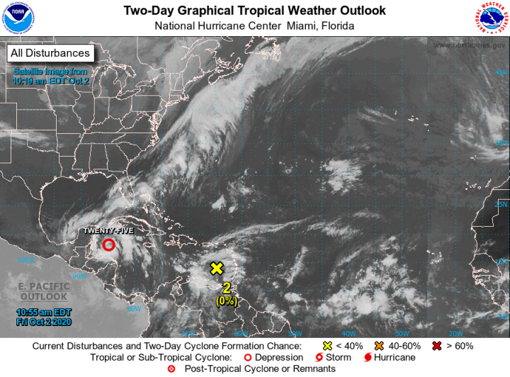 Tropical Storm Gamma could form as soon as today in the Caribbean