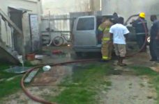 Vehicle fire reported in Belize City