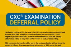 CXC: After consultations, candidates can defer sitting of exams and submit SBA's only