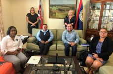 Minister of Blue Economy and Civil Aviation meets with British High Commissioner in Belize