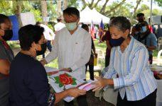 Taiwan Ambassador, Minister of Human Development visit Women's groups in Succotz