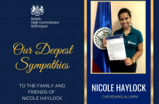 British High Commissioner expresses sympathies on the death of Nicole Haylock