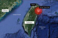 Taiwan hit by a magnitude 6.2 earthquake